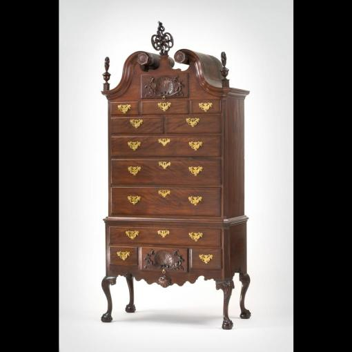 High chest Philadelphia, 1753.  Collection of the Colonial Williamsburg Foundation.