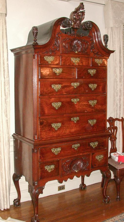 High chest, made in Philadelphia c. 1755