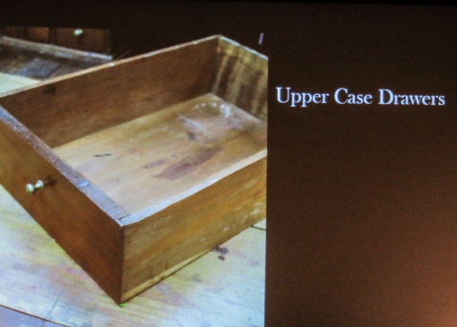A small drawer form the upper desk section. The sides are nailed to the front and back.
