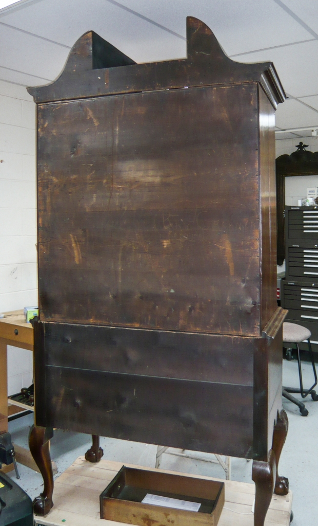 Back view of the high chest.
