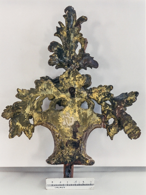 Looking glass ornament. English, c. 1750